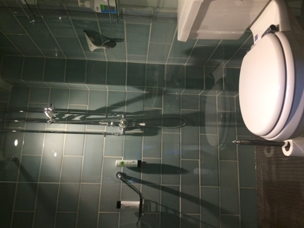 wet room with lashings of hot water